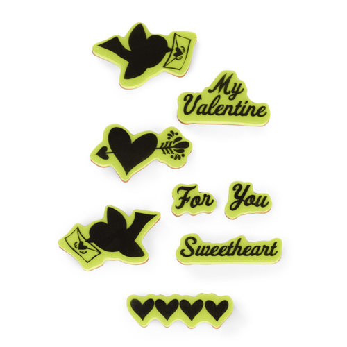 Inkadinkado - Valentine's Day Collection - Inkadinkaclings - Rubber Stamps - Folk Valentine