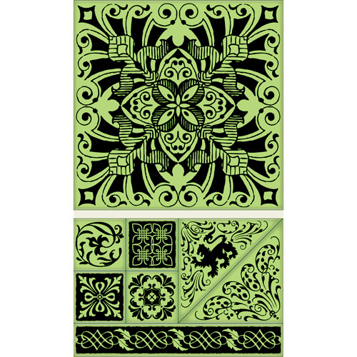 Inkadinkado - Background Clings Collection - Rubber Stamps - Large - Regal Tile