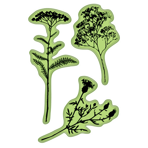 Inkadinkado - Inkadinkaclings - Rubber Stamps - Field of Flowers
