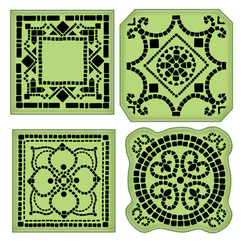 Inkadinkado - Inkadinkaclings - Rubber Stamps - Mosaic Tiles
