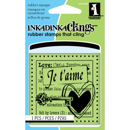 Inkadinkado - Inkadinkaclings - Rubber Stamps - Je T'Aime Mini