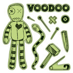 Inkadinkado - Halloween Collection - Inkadinkaclings - Rubber Stamps - Voodoo Doll