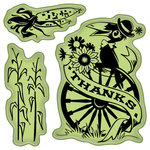 Inkadinkado - Fall Collection - Inkadinkaclings - Rubber Stamps - Scarecrow