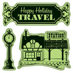 Inkadinkado - Holiday Village Collection - Christmas - Inkadinkaclings - Rubber Stamps - Village Station