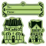 Inkadinkado - Holiday Village Collection - Christmas - Inkadinkaclings - Rubber Stamps - Village Shoppes