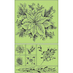 Inkadinkado - Holiday Village Collection - Christmas - Inkadinkaclings - Rubber Stamps - Poinsettia