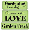 Inkadinkado - Spring Collection - Inkadinkaclings - Rubber Stamps - Garden Fresh Expressions