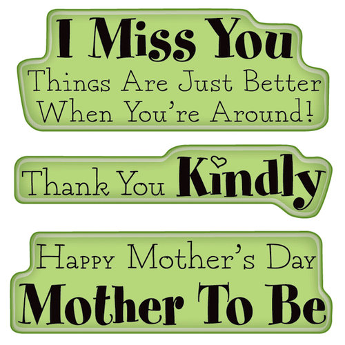 Inkadinkado - Spring Collection - Inkadinkaclings - Rubber Stamps - Mother, Thanks Expressions