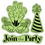 Inkadinkado - Spring Collection - Inkadinkaclings - Rubber Stamps - Party Icons