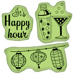 Inkadinkado - Spring Collection - Inkadinkaclings - Rubber Stamps - Cocktail Party Icons