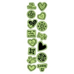 Inkadinkado - Valentine's Day Collection - Inkadinkaclings - Rubber Stamps - Little Icons