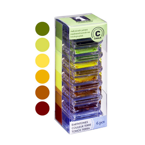 Inkadinkado - Stackables - Chalk Inkpad Set - Earthtones