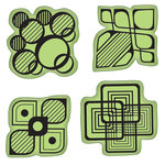 Inkadinkado - Stamping Gear Collection - Inkadinkaclings - Rubber Stamps - Modern Shapes