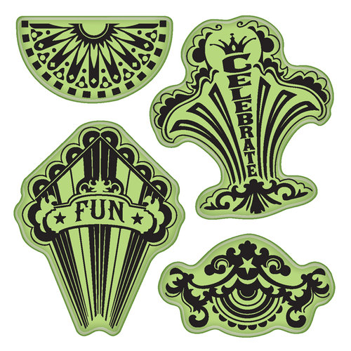 Inkadinkado - Stamping Gear Collection - Inkadinkaclings - Rubber Stamps - Fun Circus Party