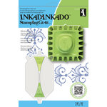 Inkadinkado - Stamping Gear Collection - Rubber Stamps and Tools - Intro Kit - Square and Rectangle