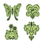 Inkadinkado - Stamping Gear Collection - Inkadinkaclings - Rubber Stamps - Butterfly Garden