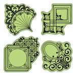 Inkadinkado - Stamping Gear Collection - Inkadinkaclings - Rubber Stamps - Decorative Ornament