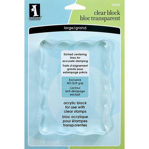 Inkadinkado - Clear Acrylic Stamp Block - Large