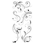 Inkadinkado - Clear Acrylic Stamps - Dot Flourishes