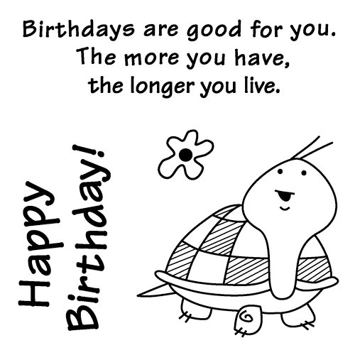 Inkadinkado - Clear Acrylic Stamps - Mini Birthdays Are Good For You