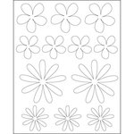 Imagination Project - Gin X - Coasters - Flowers Raw White