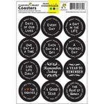 Imagination Project - Project Essentials - Totally Dated - Coasters - Mixed Dates - Black, CLEARANCE