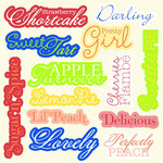 Jinger Adams - Sweet Tart Collection - 12 x 12 Chipboard with Glitter Accents - Big Words