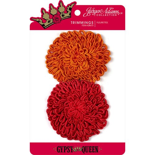 Jinger Adams - Gypsy Queen Collection - Fleurettes - Orange and Red