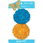 Jinger Adams - Bella Vita Collection - Fleurettes - Yellow and Blue