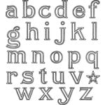 Jenni Bowlin Studio - Clear Acrylic Stamps - Outline Alphabet