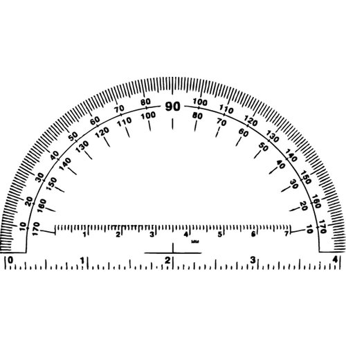 Jenni Bowlin Studio - Clear Acrylic Stamps - Protractor