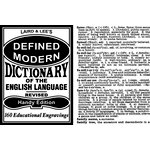 Jenni Bowlin Studio - Clear Acrylic Stamps - Dictionary