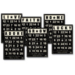 Jenni Bowlin Studio - Mini Bingo Cards - Black