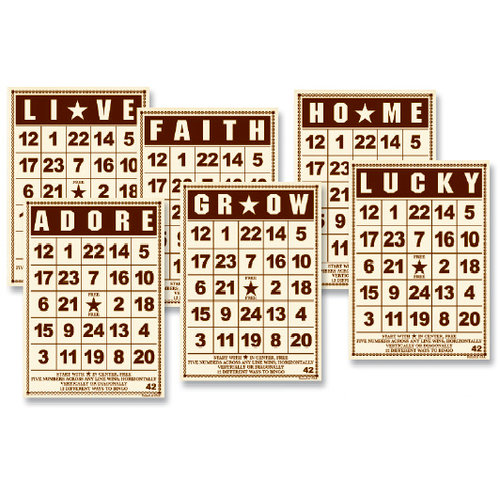 Jenni Bowlin Studio - Mini Bingo Cards - Brown