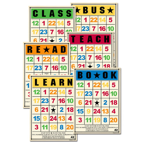 Jenni Bowlin Studio - Bingo Card Set - School Days, CLEARANCE