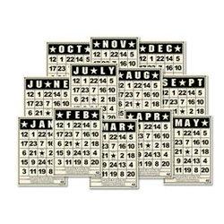 Jenni Bowlin Studio - Mini Bingo Cards - Calendar - Vintage