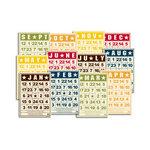 Jenni Bowlin Studio - Mini Bingo Cards - Calendar - Multi