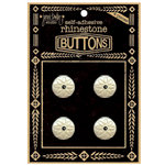 Jenni Bowlin Studio - Rhinetone Button Card - Black, CLEARANCE