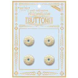 Jenni Bowlin Studio - Rhinetone Button Card - Blue, CLEARANCE