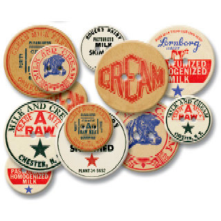 Jenni Bowlin Studio - Chipboard Buttons - Milk Caps