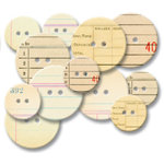 Jenni Bowlin Studio - Chipboard Buttons - Office, CLEARANCE