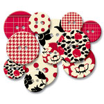 Jenni Bowlin Studio - Chipboard Buttons - Red Line