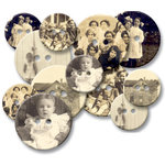 Jenni Bowlin Studio - Chipboard Buttons - Oldtime Photos