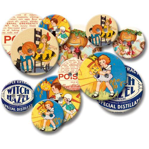 Jenni Bowlin Studio - Chipboard Buttons - Vintage Halloween