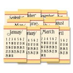 Jenni Bowlin Studio - 12 General Calendar Cards - 2.5 x 4 - Yellow and Red, CLEARANCE