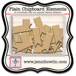 Jenni Bowlin Studio - Chipboard Shapes - Flag
