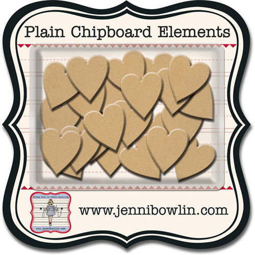 Jenni Bowlin - Chipboard Shapes - Hearts