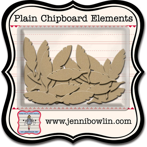 Jenni Bowlin Studio - Chipboard Shapes - Cut Feather