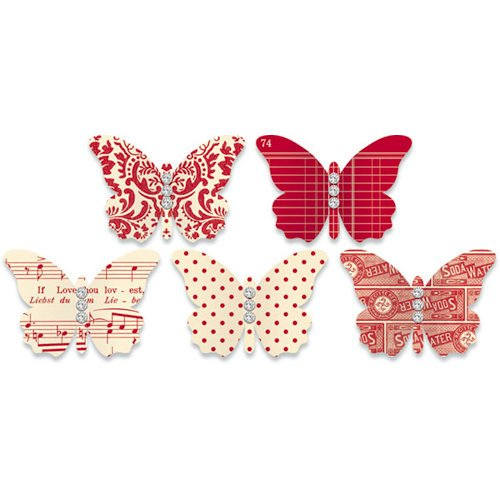 Jenni Bowlin Studio - Jewel Embellished Butterflies - Red