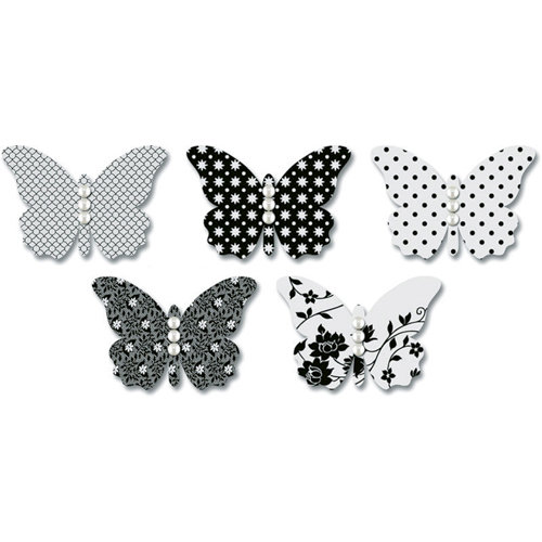 Jenni Bowlin Studio - Vellum Embellished Butterflies with Jewels - Black, CLEARANCE